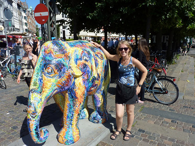 One of the Copenhagen elephants