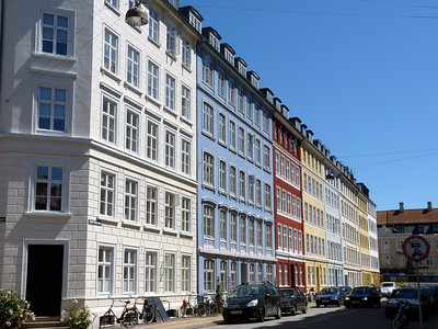 A very typical street in Copenhagen
