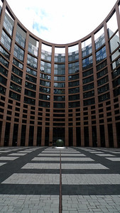 Courtyard of the European Parliament Building