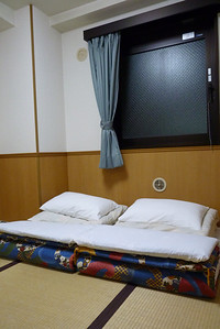 Futons in our Japanese style room