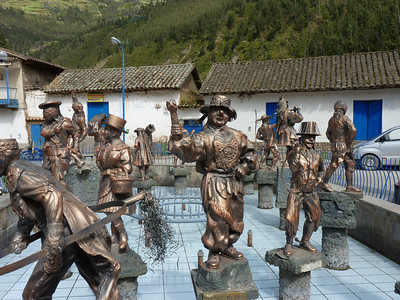 Statues of the different costumes