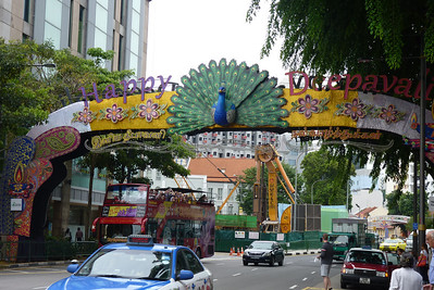 Deepavali decorations in Little India