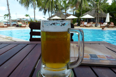 Local beer by the pool, Nha Trang