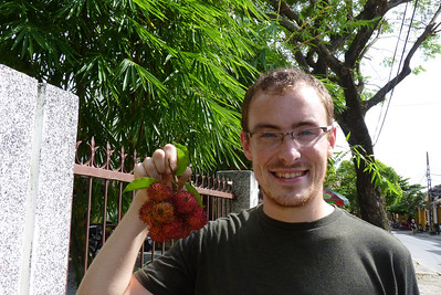 Trying Rambutan in Hoi An