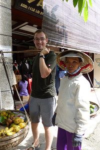 Justin and the fruit seller